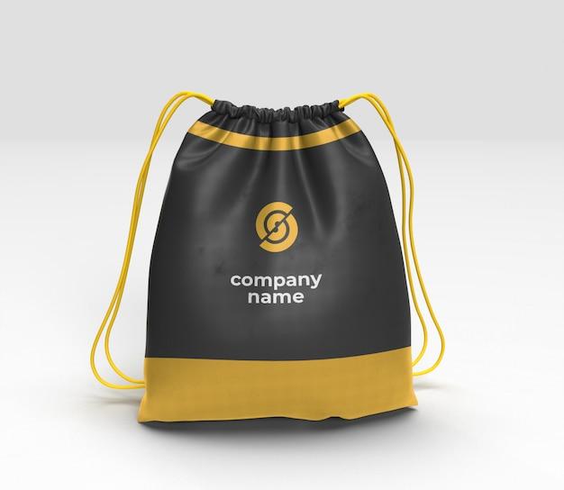 Макет сумки на шнуровке