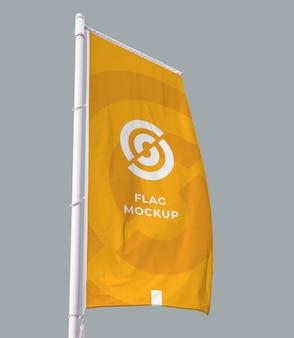 Вертикальный флаг макет