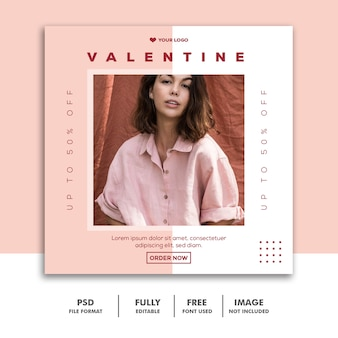 ソーシャルメディアポストの特別なバレンタインセール