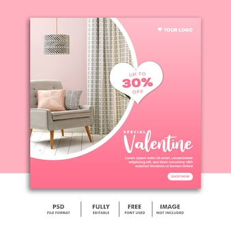 ソーシャルメディアポストの特別なバレンタイン家具販売