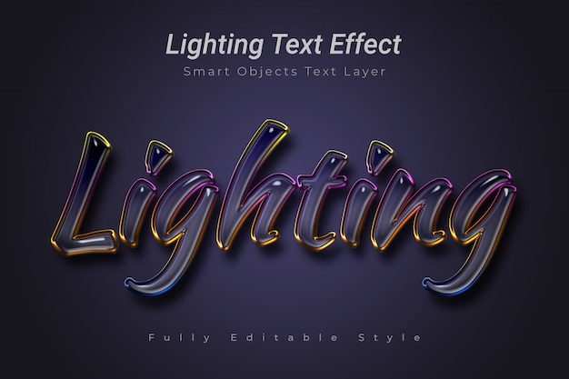 Эффект освещения текста
