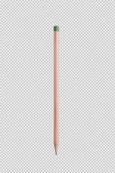 白い背景に鉛筆