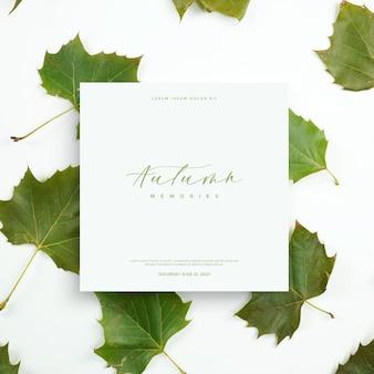 秋の葉カード