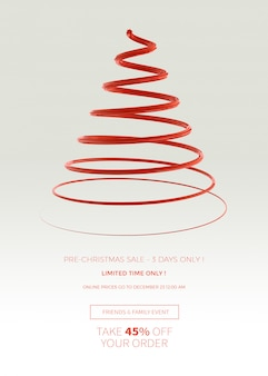 クリスマスセールの垂直バナーまたはポスターテンプレート