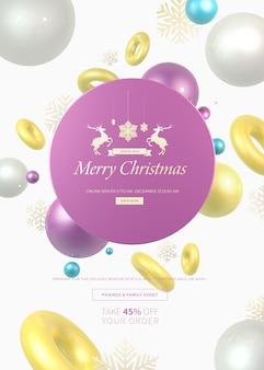 Рождественский баннер для распродаж