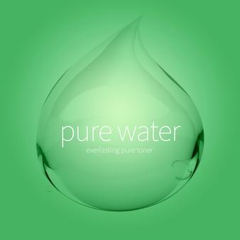透明な水滴