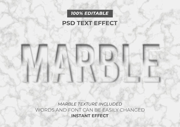 Мраморный текстовый эффект