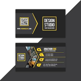 Желтая визитка