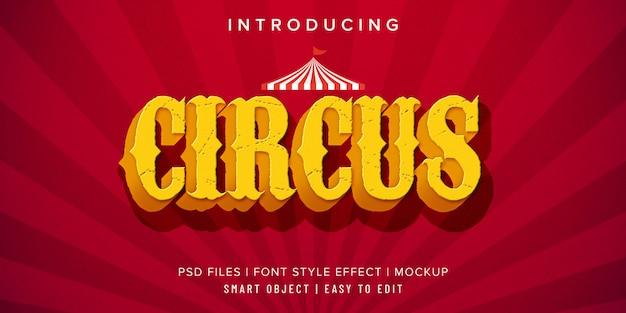 Цирк винтажный стиль шрифта эффект макет