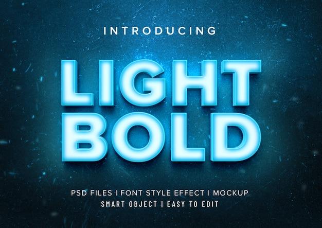 Светлый, смелый неоновый шрифт