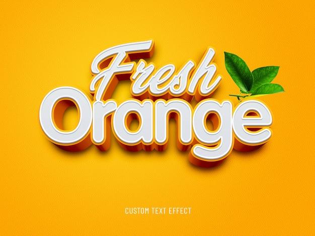 Оранжевый свежий пользовательский текстовый эффект