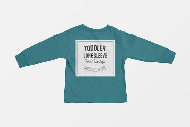 Малыш футболка с длинным рукавом макет