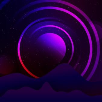 紫の丸の背景のデザイン