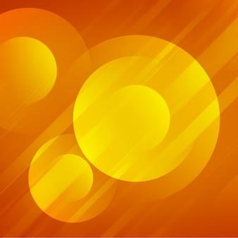 黄色の輝く円の背景デザイン