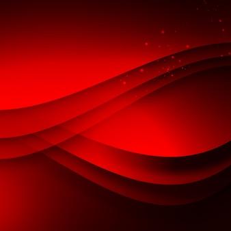 赤い波状の背景