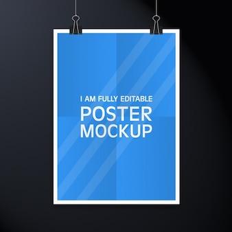 ポスターデザインモックアップ