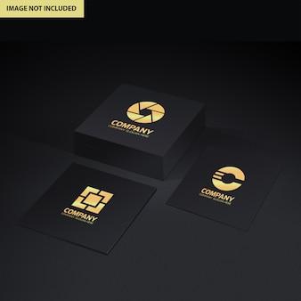 Макет презентации логотипа