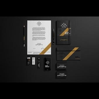 ビジネスステーショナリーデザインのモックアップ