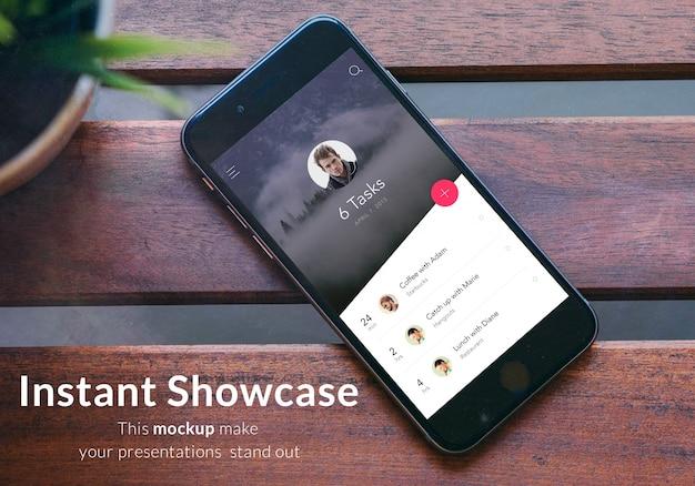 携帯電話のスクリーンモックアップデザイン
