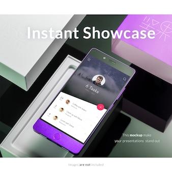 現実的なスクリーンモックアップ
