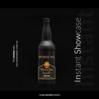 Черная бутылка макет