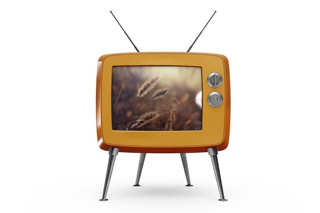 レトロなテレビモックアップ