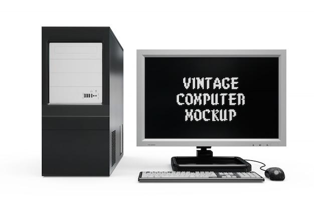 Винтажный компьютерный макет
