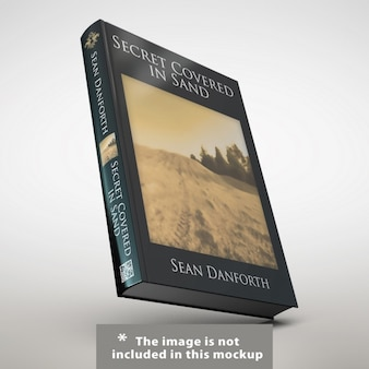 Реалистичная презентация книги обложка
