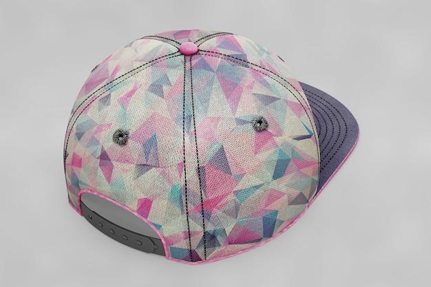 カラフルな野球帽のモックアップ