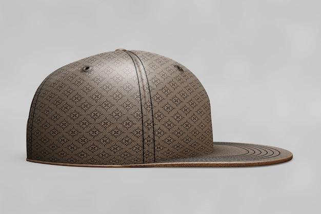 サイドビュー野球帽のモックアップ