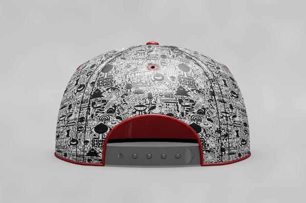 バックビュー野球帽のモックアップ