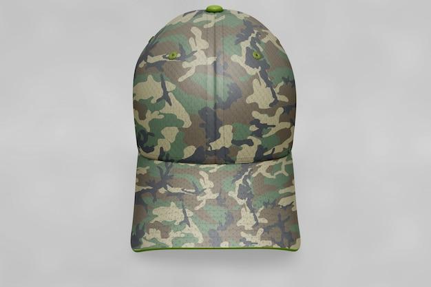 軍事帽子のモックアップ