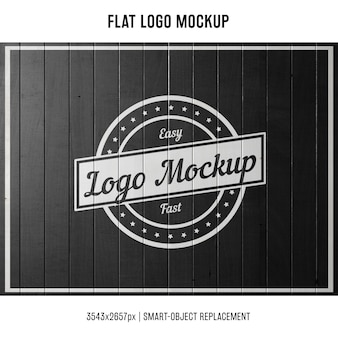 Штампованный логотип макета