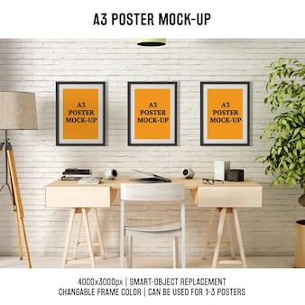 ポスターデザインのモックアップ