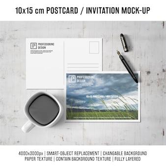 ポストカードは、デザインのモックアップ