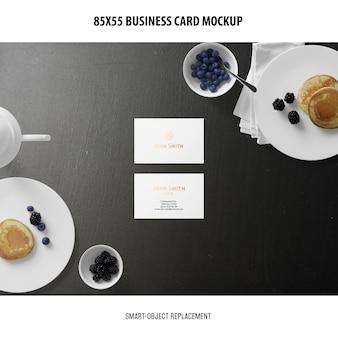 Визитная карточка макет
