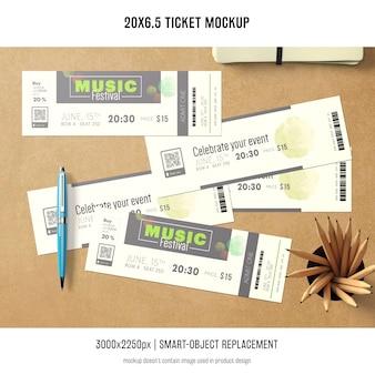 Билет макет