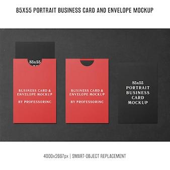 Макет визитной карточки портрета