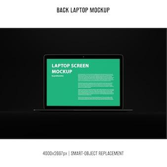 黒いノートパソコンのモックアップ