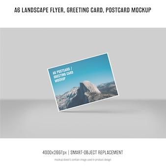 Пейзаж флаер, открытка, макет поздравительной открытки