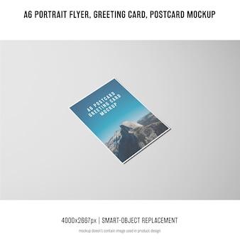 Летчик портрета, открытка, макет поздравительной открытки