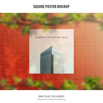Квадратный плакат макет