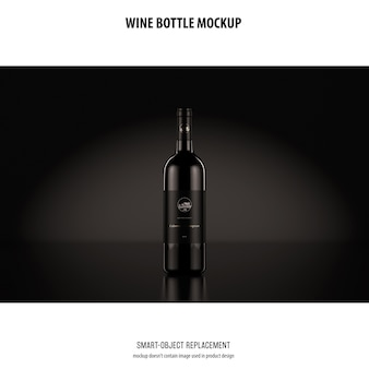 ワインボトルのモックアップ