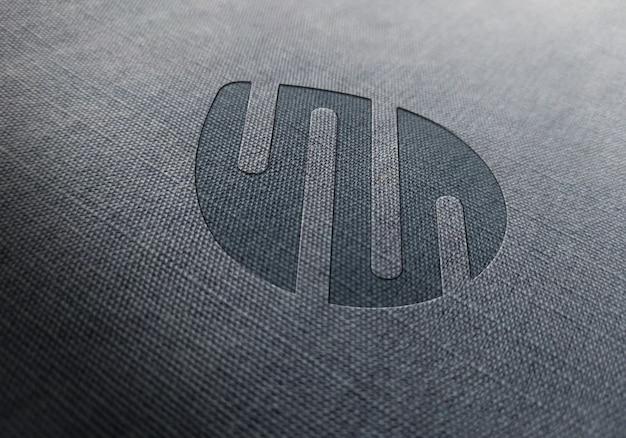 Премиум текстура ткани тиснением макет