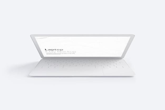 Макет ноутбука глины, вид спереди
