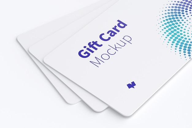 ギフトカードのモックアップ