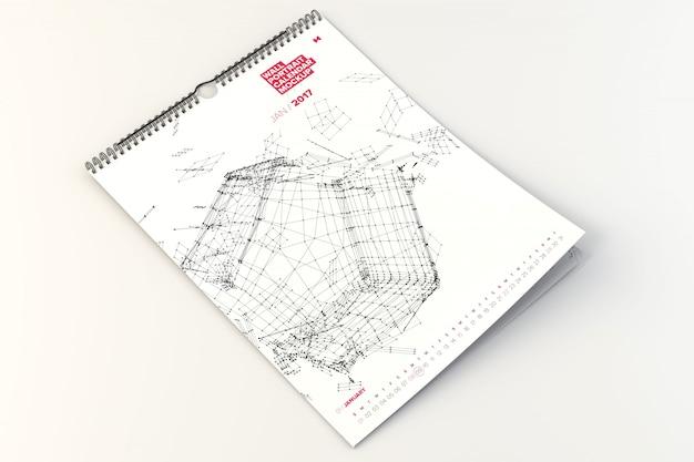 Настенный календарь макет
