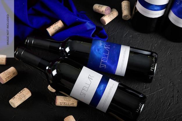 Макет бутылки вина