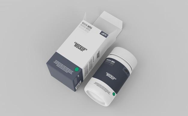 Пластмассовое лекарство с коробкой