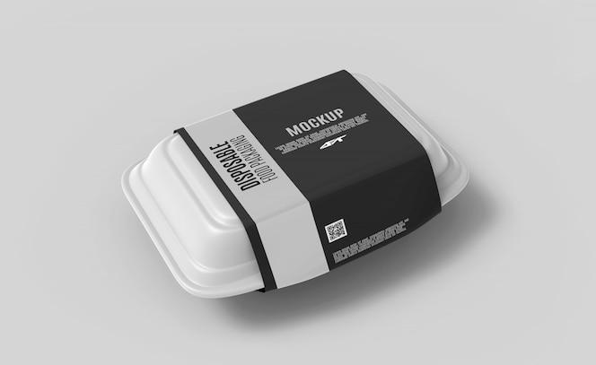 フードボックス包装モックアップ